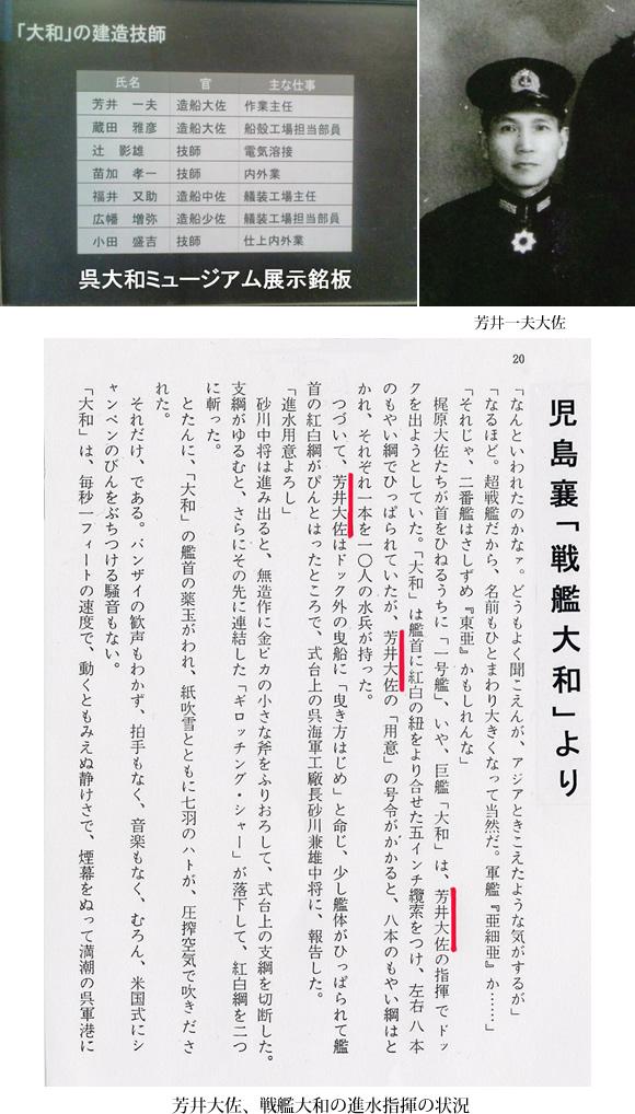 芳井大佐、戦艦大和の進水指揮の状況